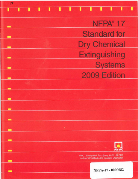 Nfpa 17 Dry Chemical Extinguishing Systems Construction